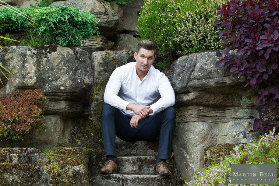 Cool Male portrait ideas at Northcote House during an engagement photo shoot