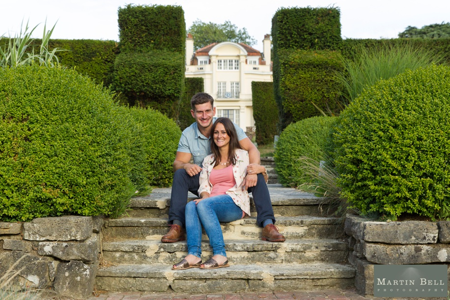 Engagement photos at The Gregg School in Southampton