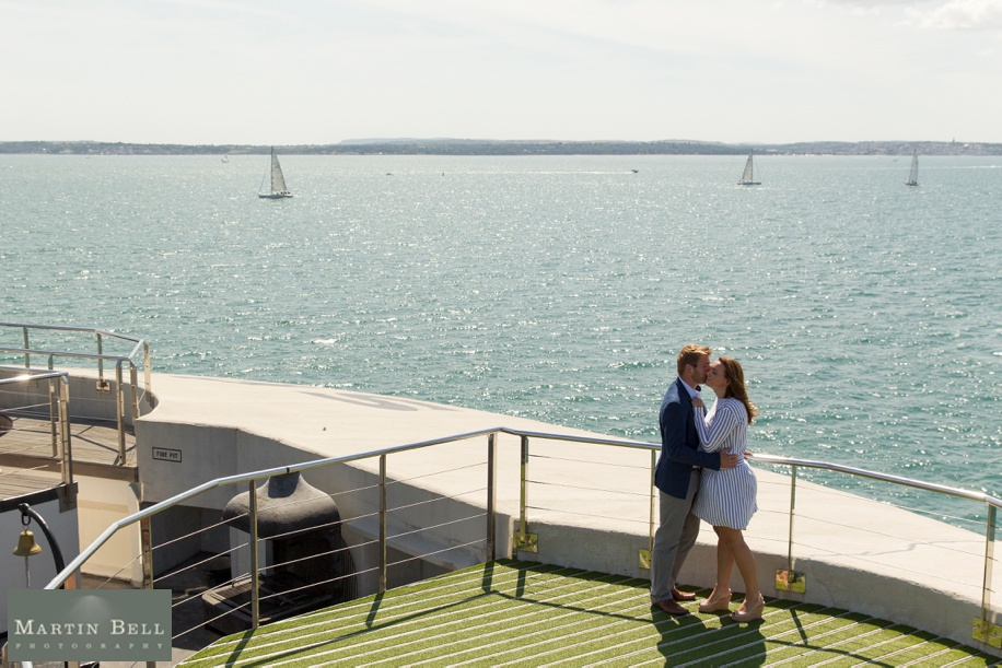 Engagement photos on Spitbank Fort