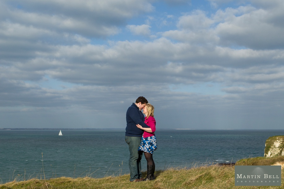 Wedding photographers Dorset - Engagement shootout Old Harry's Rocks