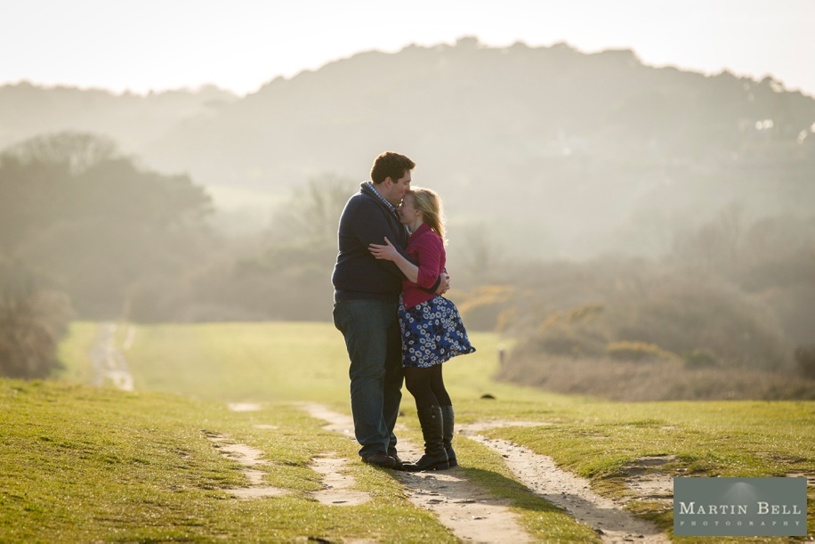 Wedding photographers Dorset - Engagement shootout Old Harry's Rocks
