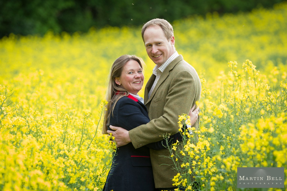 Spring engagement shoot ideas in amongst Farmland in Winchester