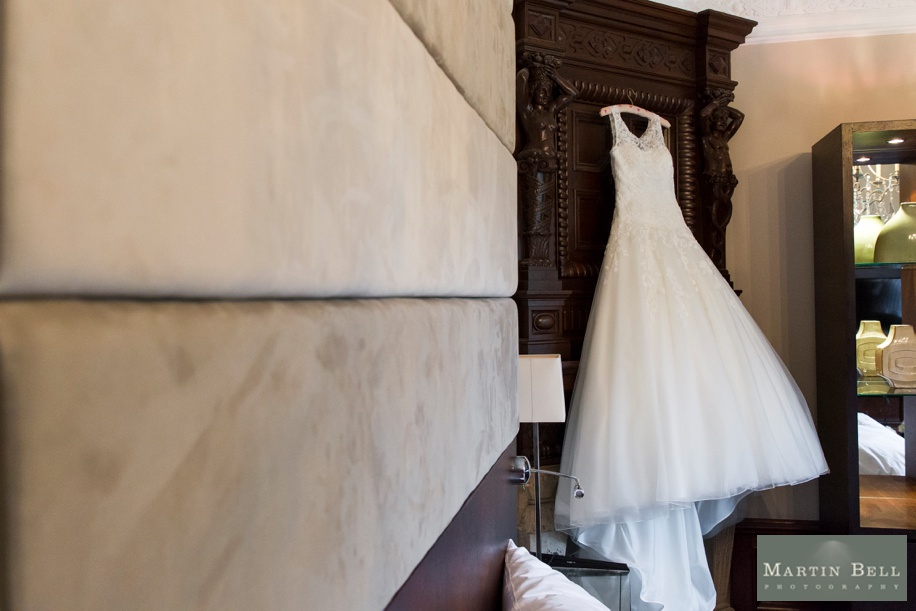 beautiful wedding dress at Rhinefield House