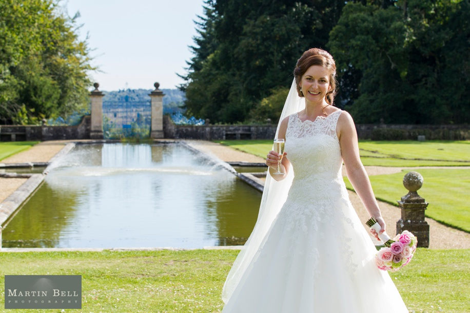 Beautiful Bride photograph in the grounds at Rhinefield House