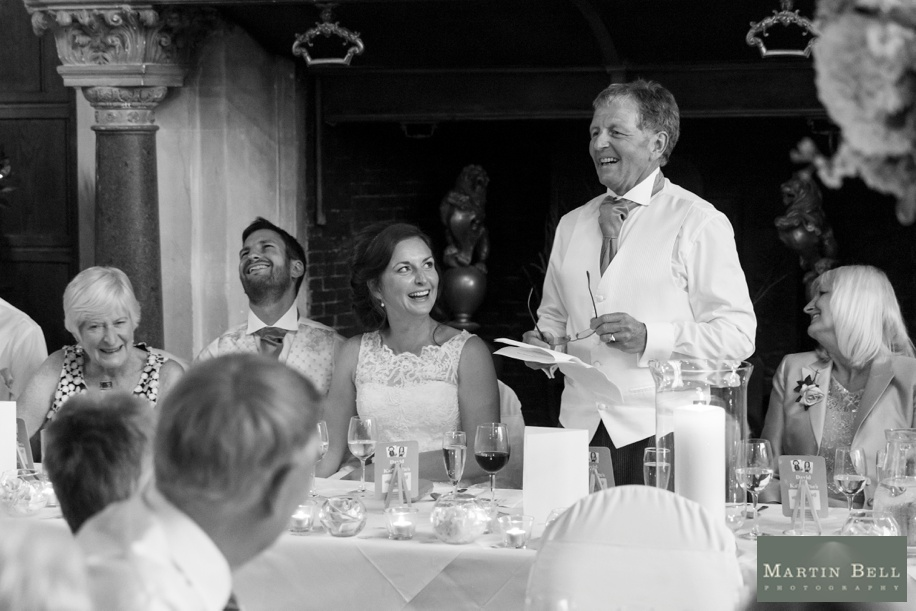 Speeches at a Rhinefield House wedding