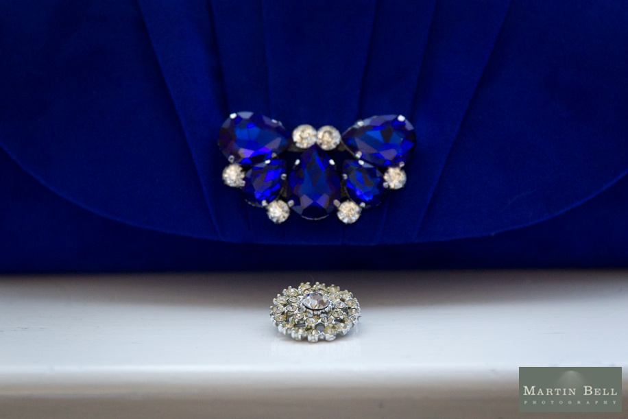 royal blue wedding accessory ideas