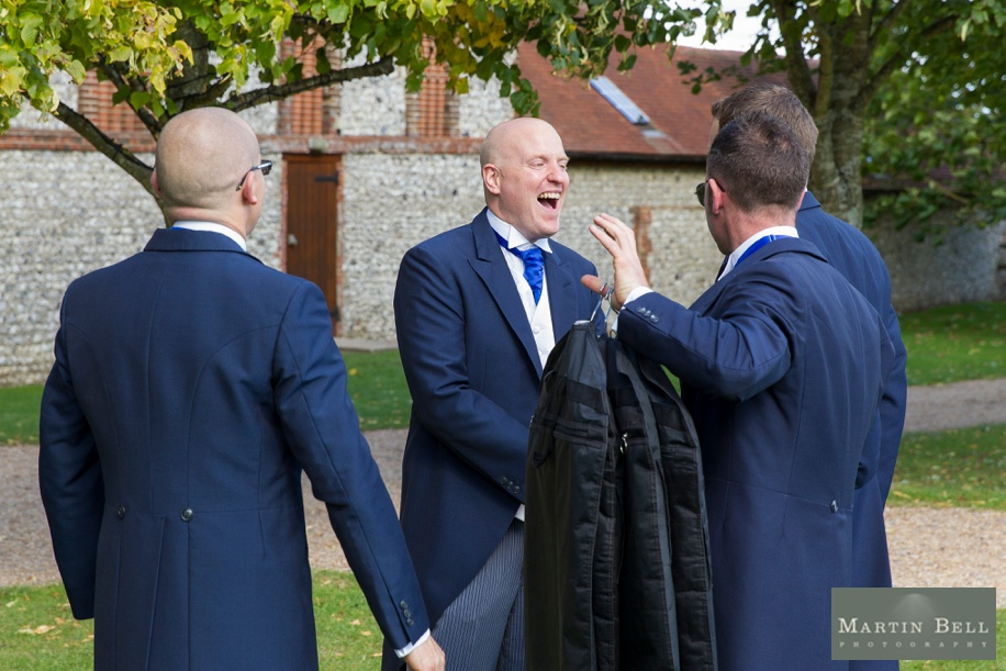 Documentary wedding photography at a Tithe Barn wedding