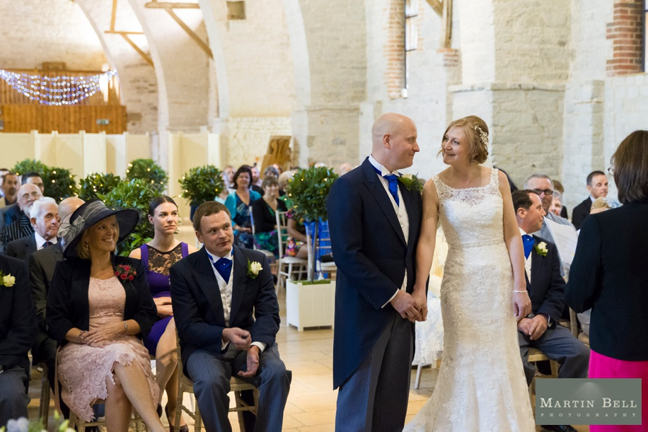 Tithe Barn wedding ceremony