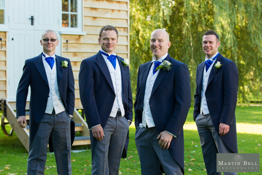 Groomsmen photo at Tithe Barn