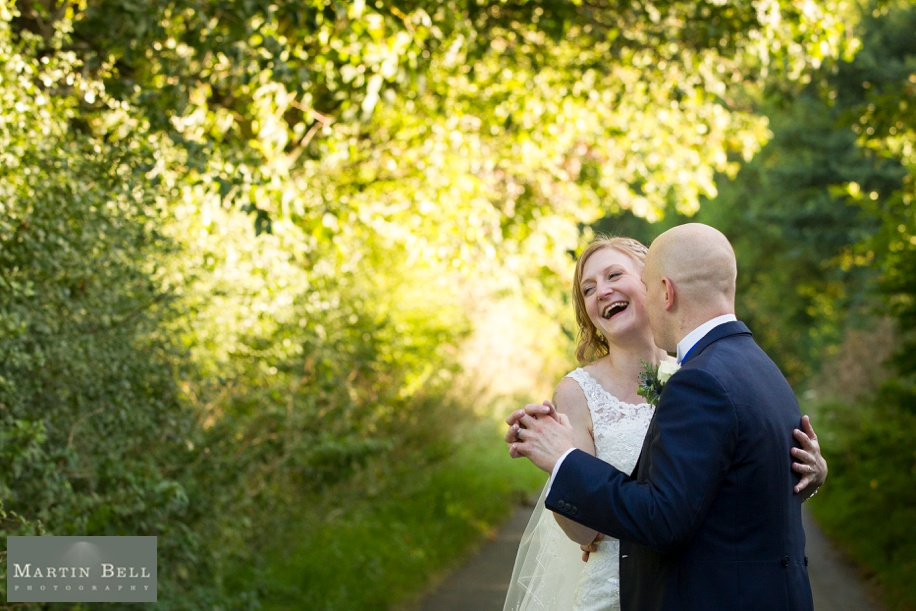 Tithe Barn wedding photography of the bride and groom by Martin Bell Photography