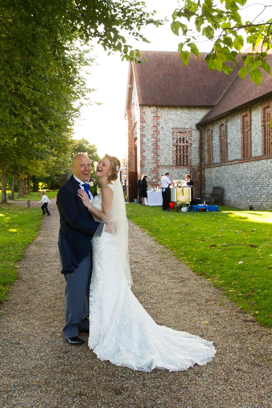 Tithe Barn wedding photography of the bride and groom