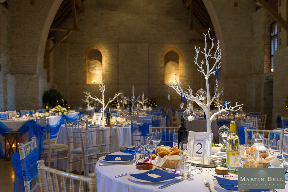 Wedding breakfast ideas at Tithe Barn in Hampshire