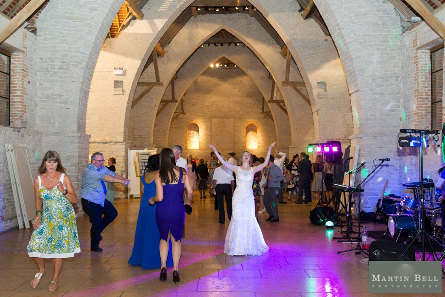 Evening reception at Tithe Barn in Hampshire