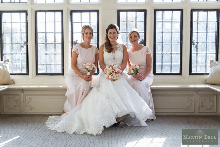 Rhinefield House wedding - Bride with her Bridesmaids