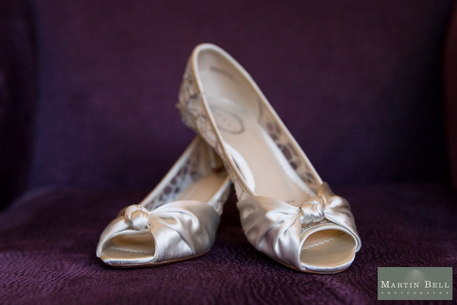 Gorgeous satin wedding shoes