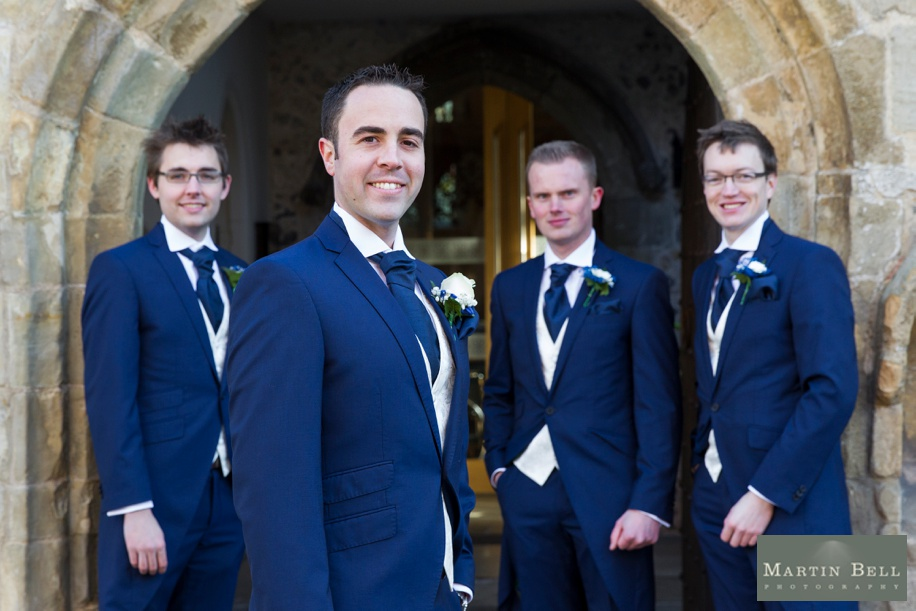 Groomsmen photographs at Sarum St Martins church, Salisbury