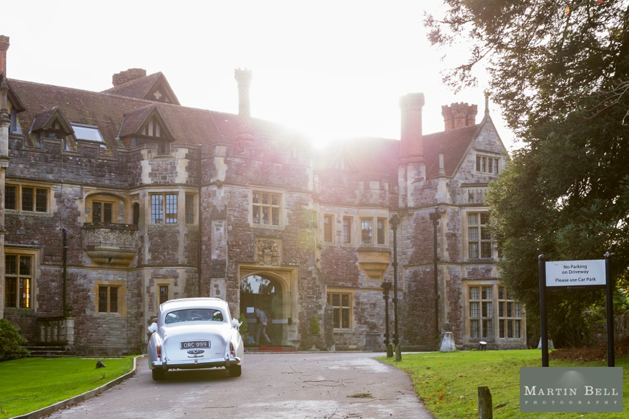 Bride and Groom's arrival - Rhinefield House wedding photographer - Martin Bell photography