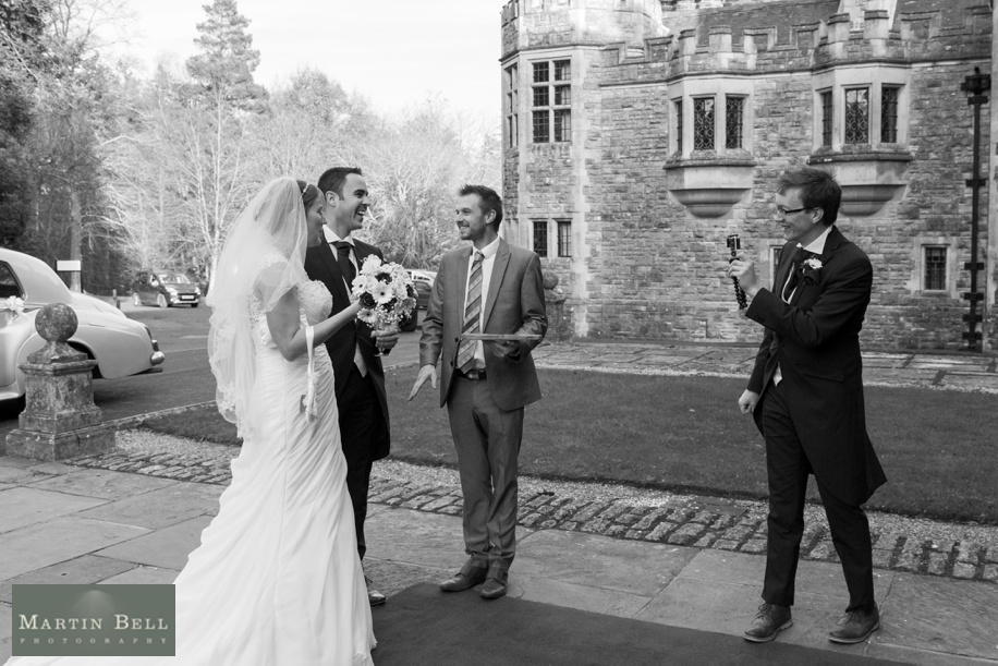 Documentary wedding photography at Rhinefield House