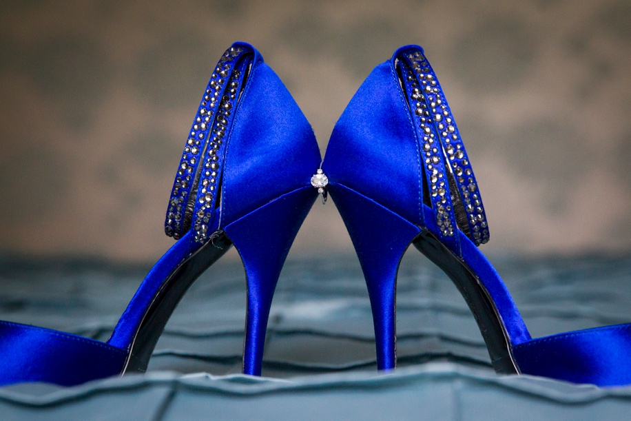 Blue wedding shoe ideas