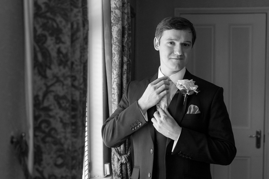 Stunning Groom portrait at the Lord Bute Hotel in Dorset