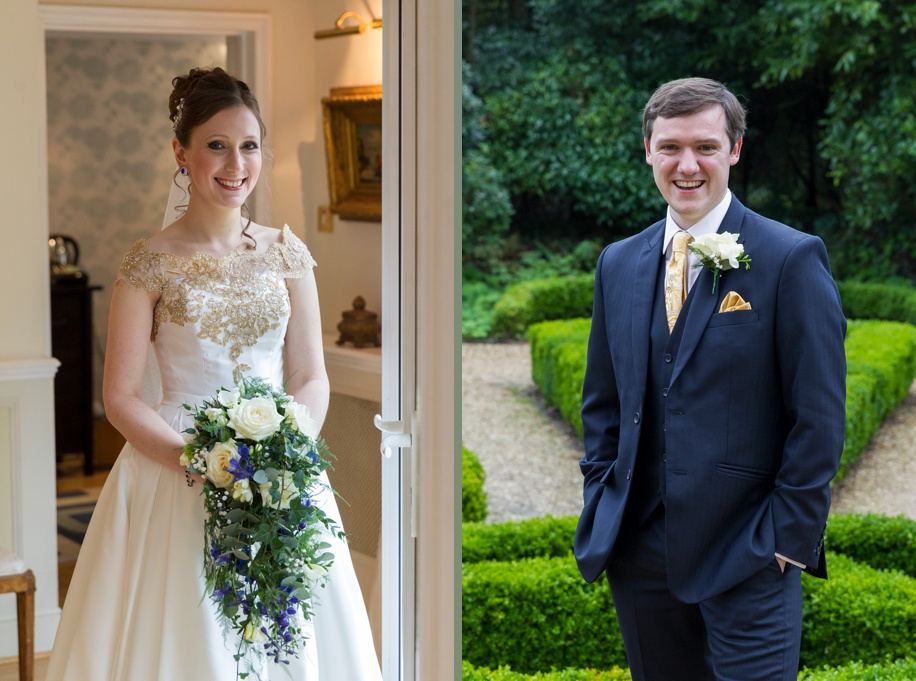 Bride and Groom portraits on their wedding day at Highcliffe Castle in Dorset