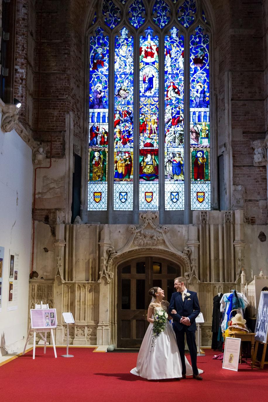 Stunning wedding photographs - A Bride's entrance at a Highcliffe Castle wedding