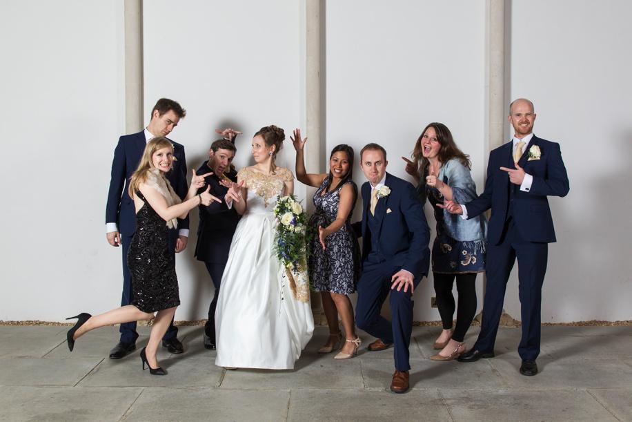 Fun wedding photographs at Highcliffe Castle