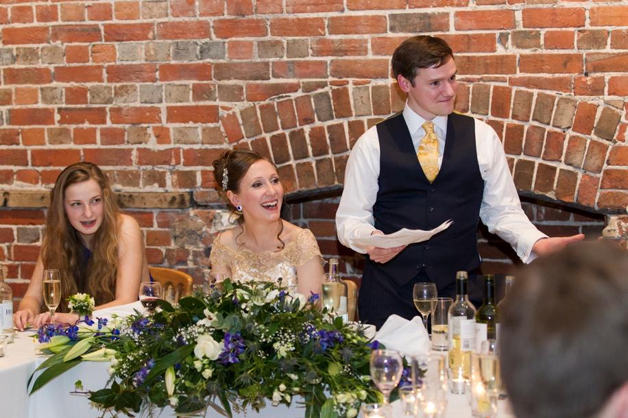 Highcliffe Castle weddings - speeches - documentary wedding photographs