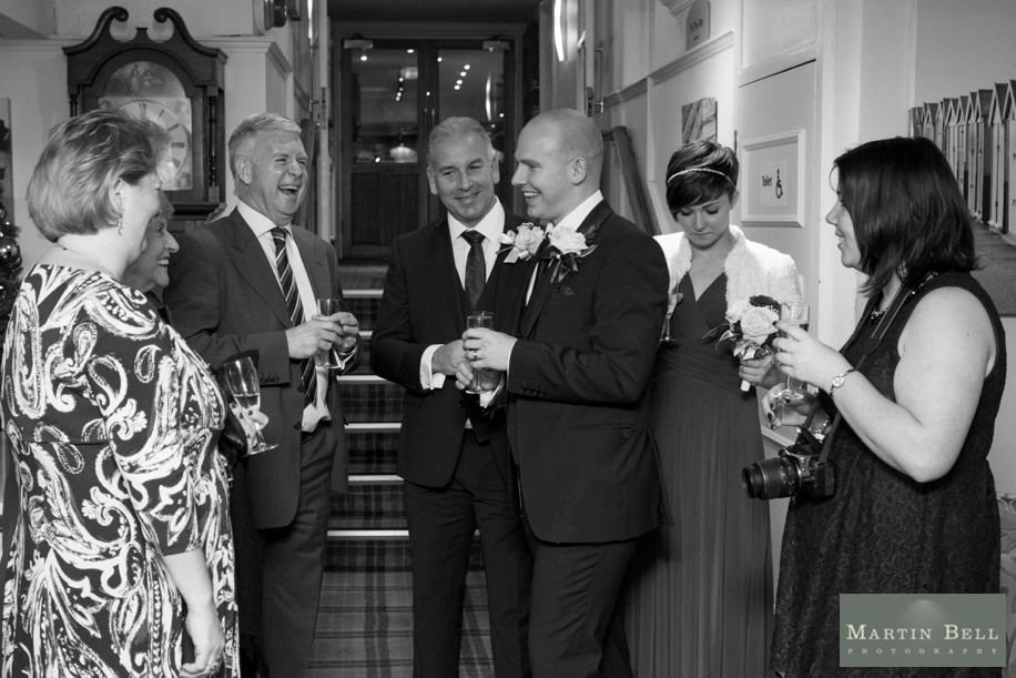 reportage wedding photography at a potters heron wedding