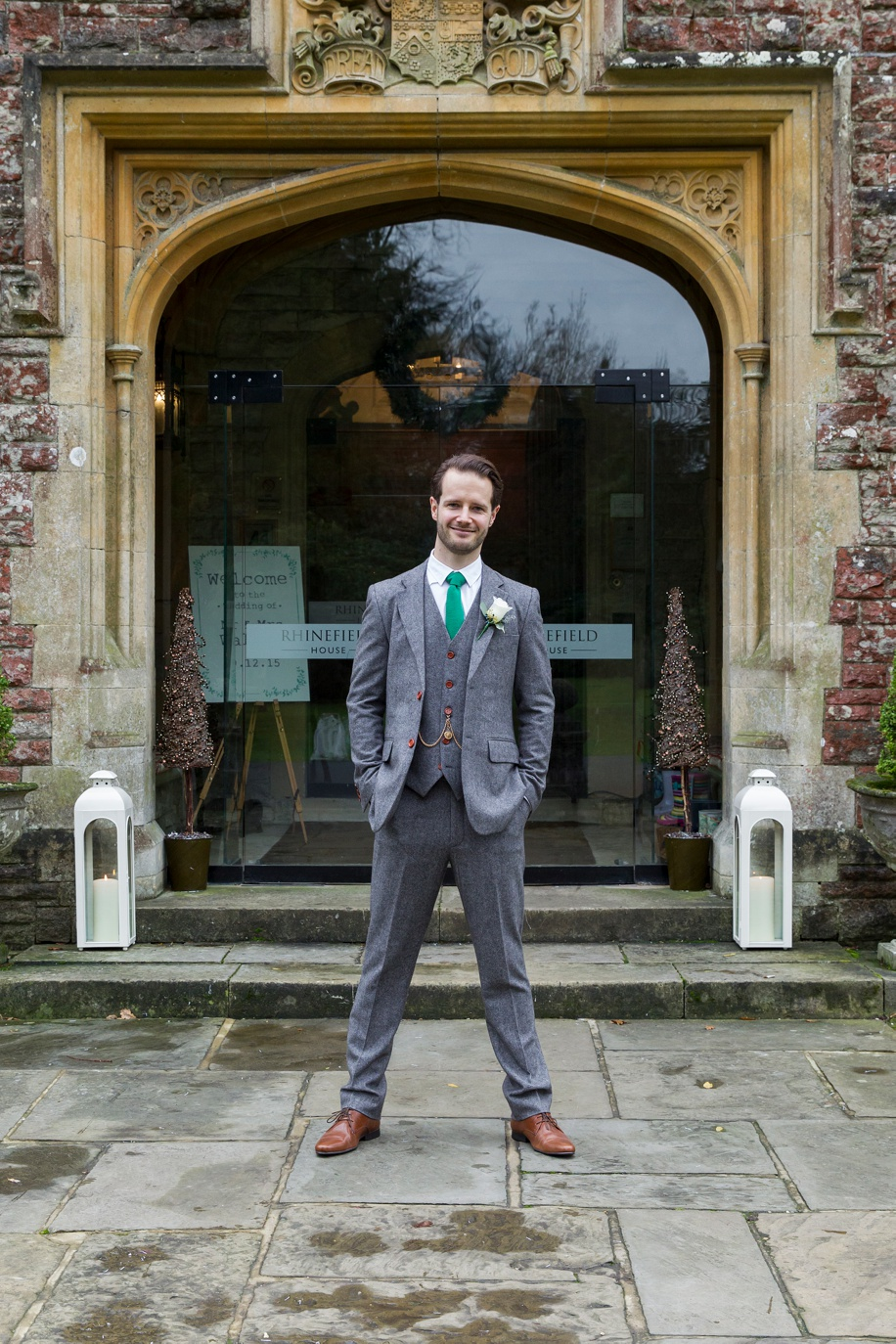 Rhinefield House wedding photography - Groom portrait