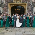 Fun Bridal party photographs at a Rhinefield House winter wedding