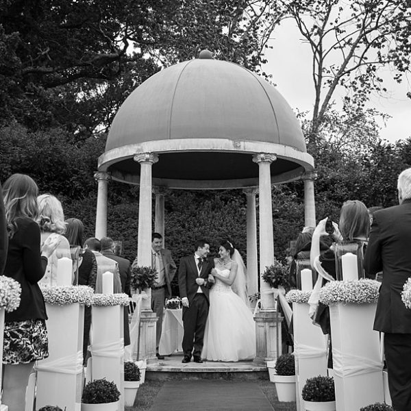 Outdoor Wedding Ceremony Yorkshire: Rhinefield House Wedding