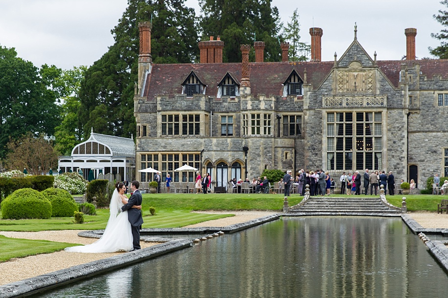 Bride and Groom photographs at a Rhinefield House wedding in the Spring
