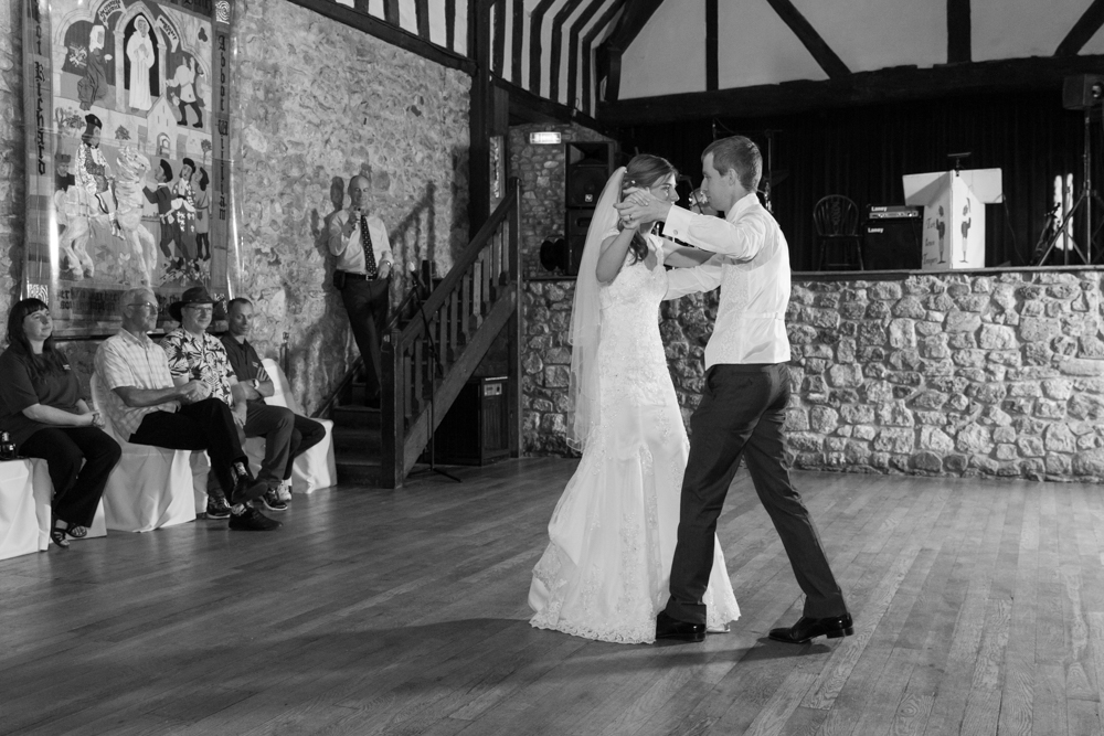 Wedding first dance at The Domus, Beaulieu