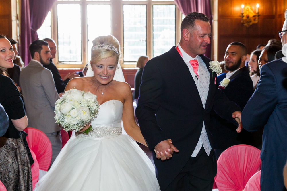 Rhinefield House ceremony - walking up the aisle