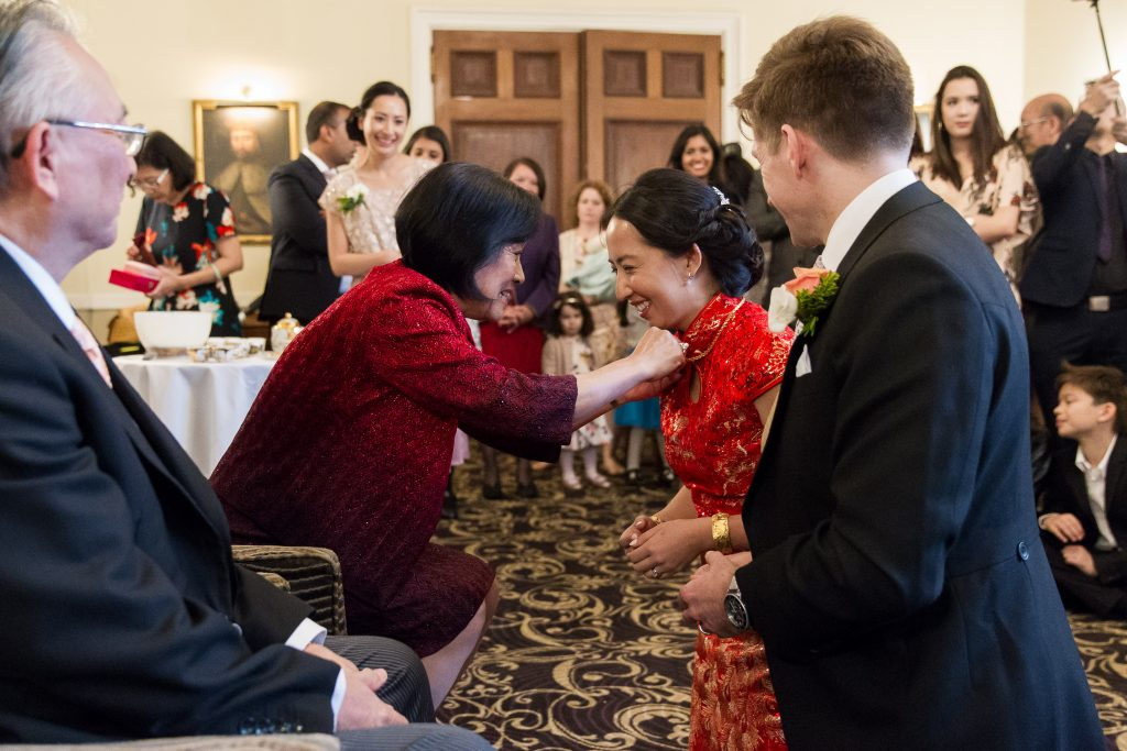 traditional chinese tea ceremony in the New Forest - Rhinefield House wedding