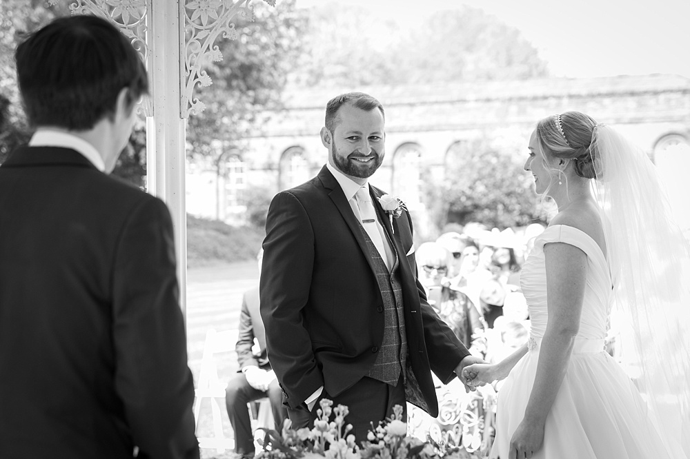 Outdoor Lainston House wedding photography by award winning Hampshire wedding photographer, Martin Bell Photography
