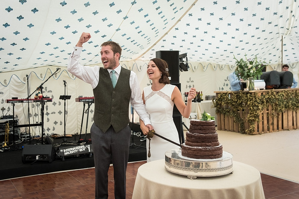 New Forest marquee wedding photography in Burley by award winning wedding photographer Martin Bell Photography