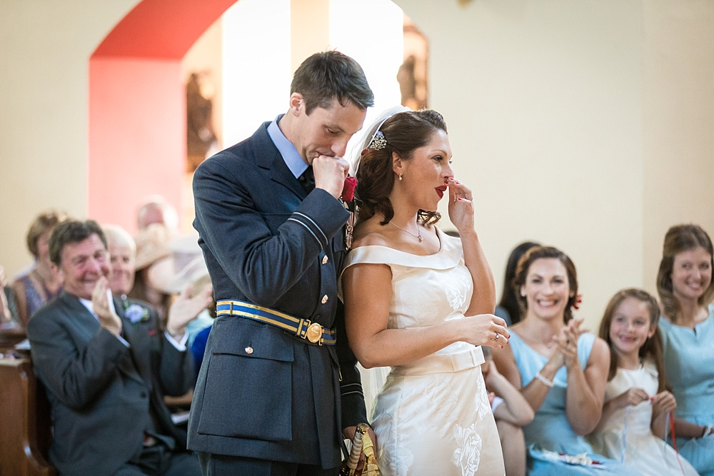 An RAF military wedding in Hampshire by award winning wedding photographer Martin Bell Photography