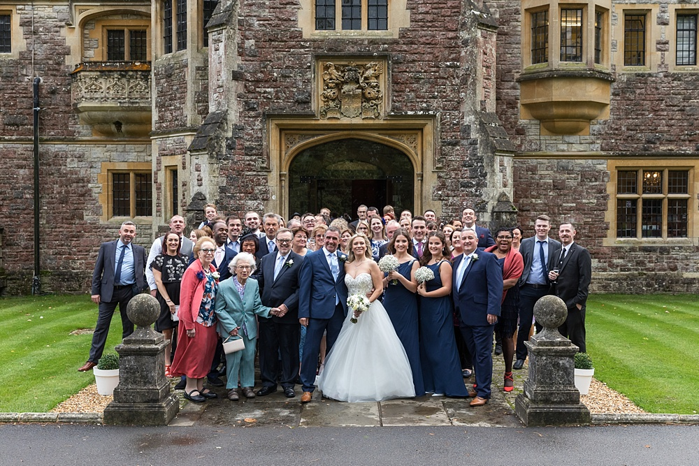 A wet and rainy Rhinefield House wedding by award winning wedding photographer Martin Bell Photography