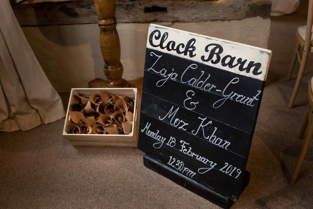 Clock Barn Winter wedding photography by award winning Hampshire wedding photographer Martin Bell.