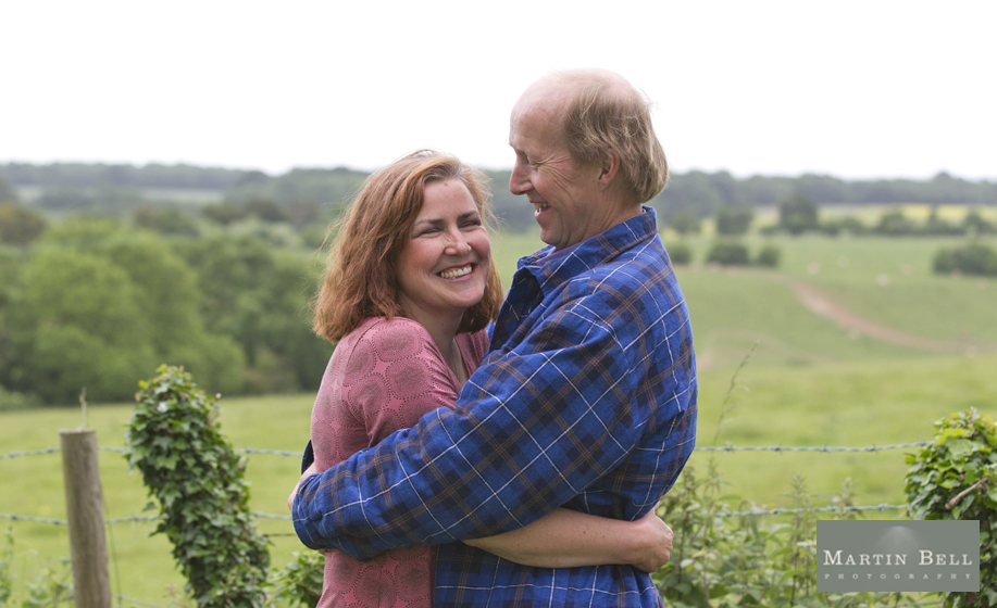 Engagement photo shoot with Jennifer and Nigel in Owslebury, Hampshire