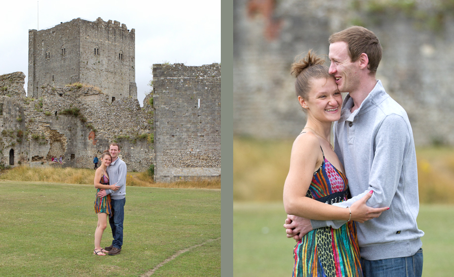Wedding Photographer for Hampshire and Surrey - Portchester Castle engagement photo shoot