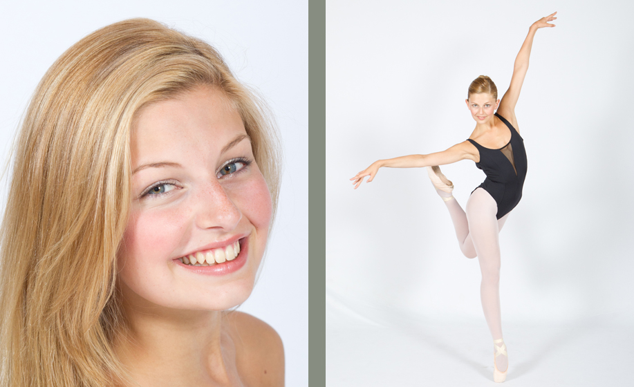 Beccy Mabin audition photographs for the Royal Ballet