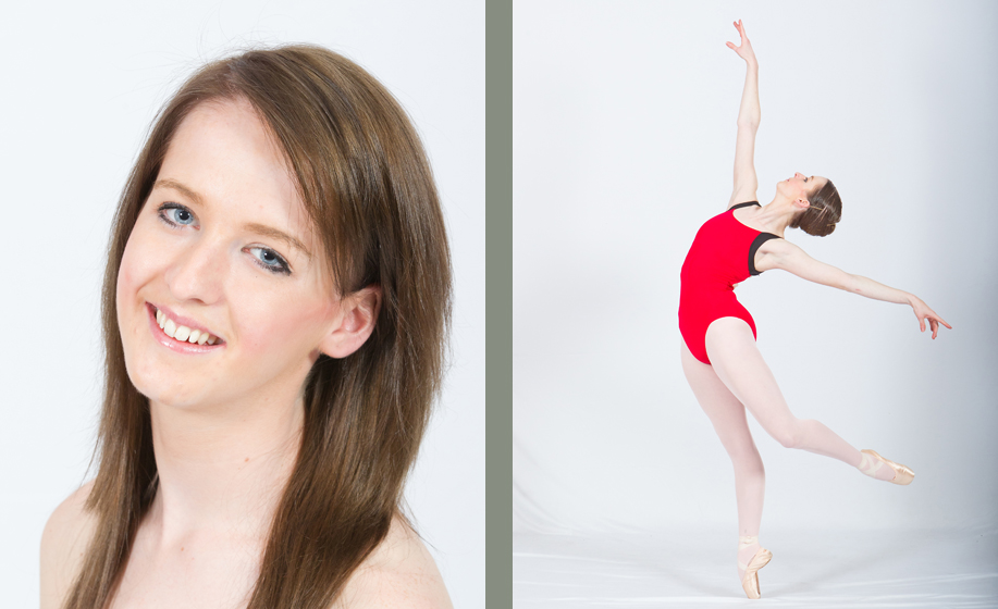 Kerryanne Warne audition photographs for professional dance companies
