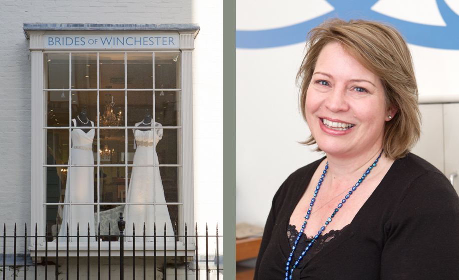 Wedding dress shop in Winchester, Brides of Winchester Bridal Boutique - photograph by Martin Bell Photography