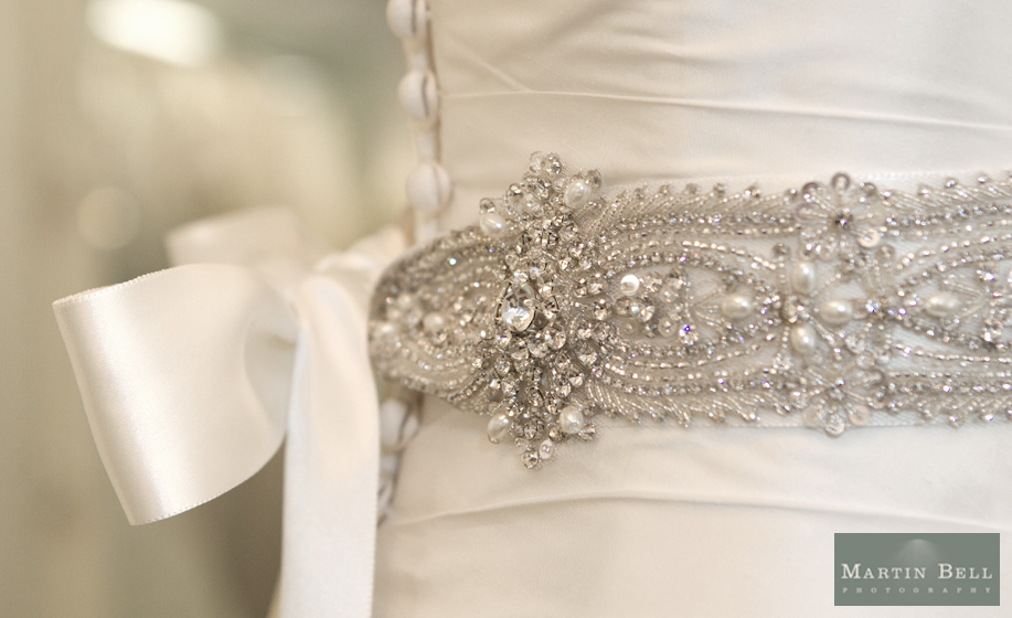 A long wedding dress/gown from the Brides of Winchester Bridal Boutique - photograph by Martin Bell Photography