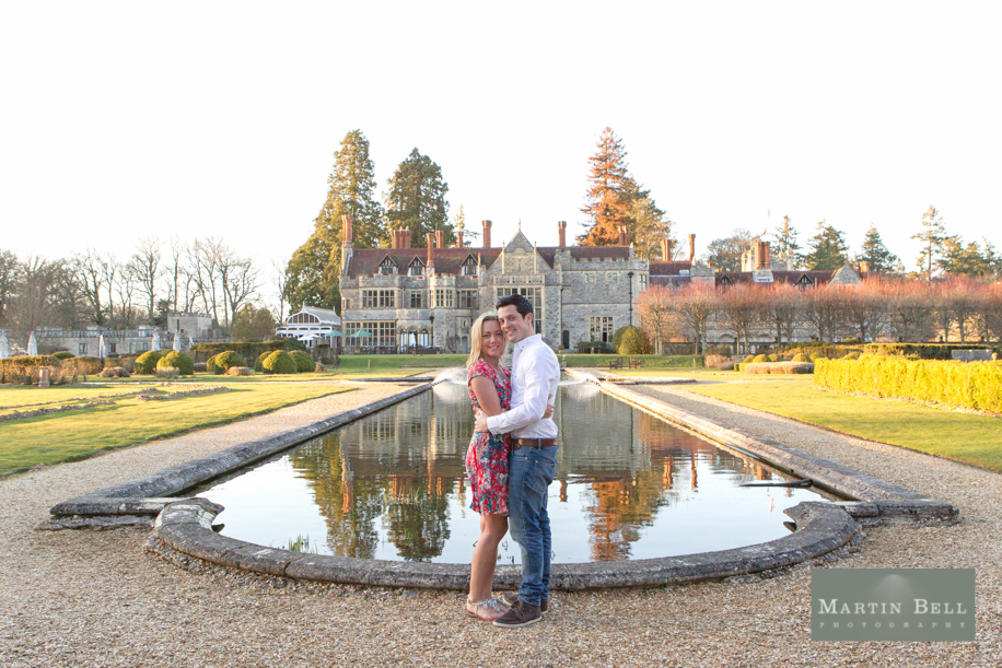 Wedding photography Rhinefield House Hotel - Romantic Rhinefield at Sunset - An engagement in the New Forest by Hamsphire wedding photographer, Martin Bell Photography
