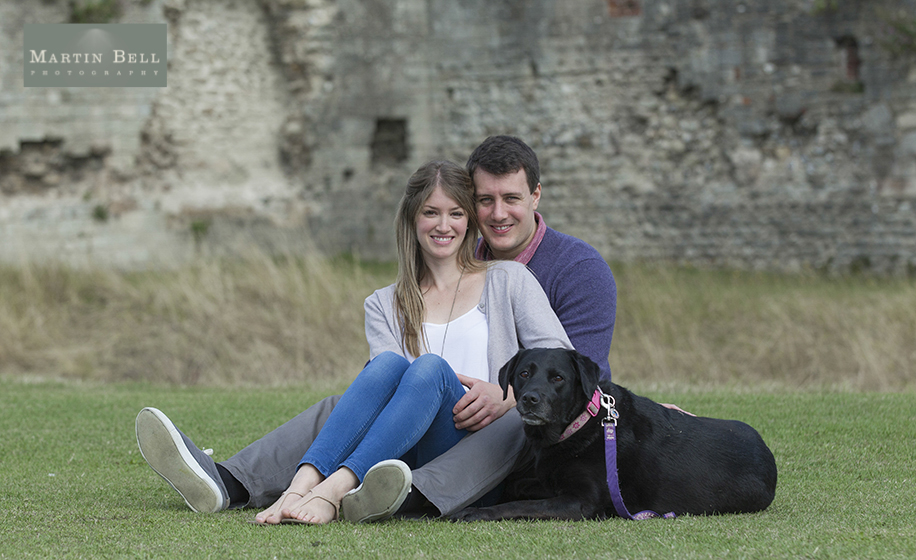 Portchester Castle wedding photographer ~ Becky and Alex's engagement photo shoot - Hampshire wedding photographer, Martin Bell Photography