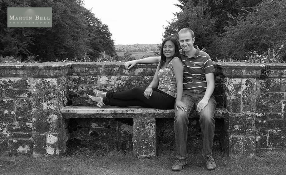 rhinefield house wedding photographer - Annabelle and Jon's engagement photographs by Martin Bell Photography